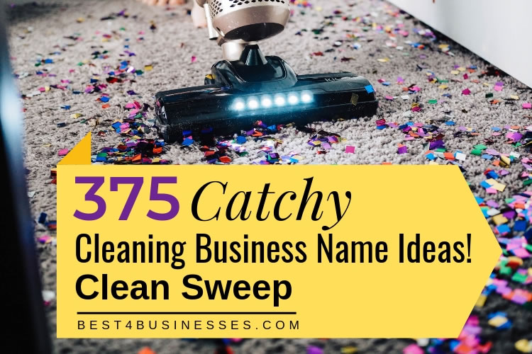 375 Catchy Cleaning Business Names to Mop Up Profits!