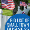 small town business ideas list